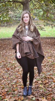 The blanket coat is this autumn's cosiest trend.  These chunky capes seen in checks, stripes or aztec prints are great thrown ...