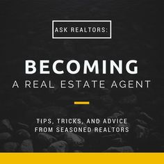 Are you thinking about becoming a real estate agent? This post gives you the best advice from top producers around the country. Learn why the experts do