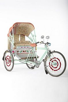 Just what you never needed. A rickshaw. (Just two grand from Anthropologie.)