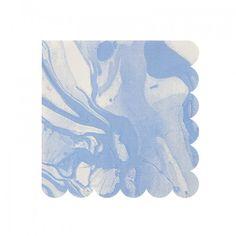 Blue Marble Party Napkins By Meri Meri