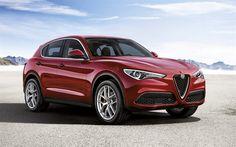 Download wallpapers Alfa Romeo Stelvio, 2018 cars, crossovers, italian cars, Alfa Romeo