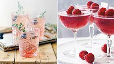 6 porlande drinkar gjorda på cava eller prosecco | ELLE Decoration Welcome Drink, Thanksgiving Tablescapes, Prosecco, Raspberry, Alcoholic Drinks, Food And Drink, Snacks, Wine, Eat