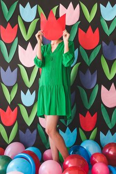 Paper Tulip Backdrop...