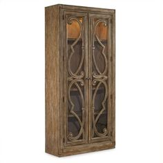 Hooker Furniture Solana Bunching 2-Door Curio Cabinet (€2.435) ❤ liked on Polyvore featuring home, furniture, storage & shelves, display units, oak, door furniture, hooker furniture, colored furniture and double door curio cabinet