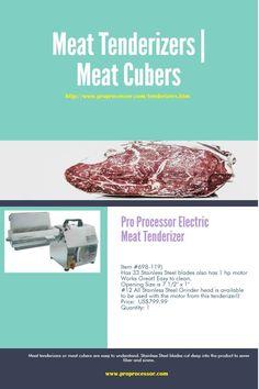 Pro Processor Electric Meat Tenderizer  (Item #698-119)   #MeatTenderizer