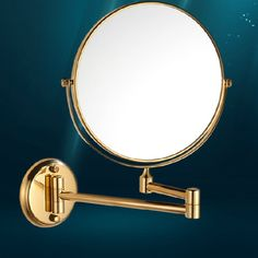 Wall Mounted Gold Plated Round Cosmetic Bathroom Mirror - http://furniturefromchina.net/?product=wall-mounted-gold-plated-round-cosmetic-bathroom-mirror