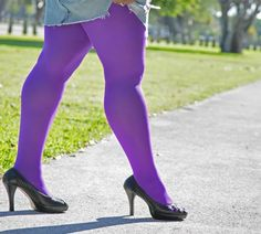 Plus Size Nylon/Lycra Tights available in 51 colors for $15.00 each from WeLoveColors.com