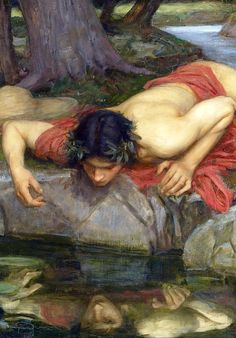 Echo and Narcissus (detail) 1903,John William by carter flynn