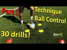 Ball Mastery l Coerver Coaching & Fast Footwork Part 1 - 30 *GREAT* Football drills for Ball Control - YouTube
