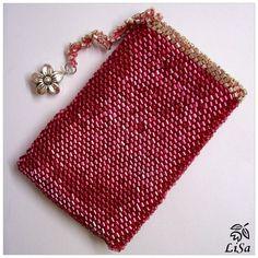Вязание чехла для телефона бисером - crochet w bead tut
