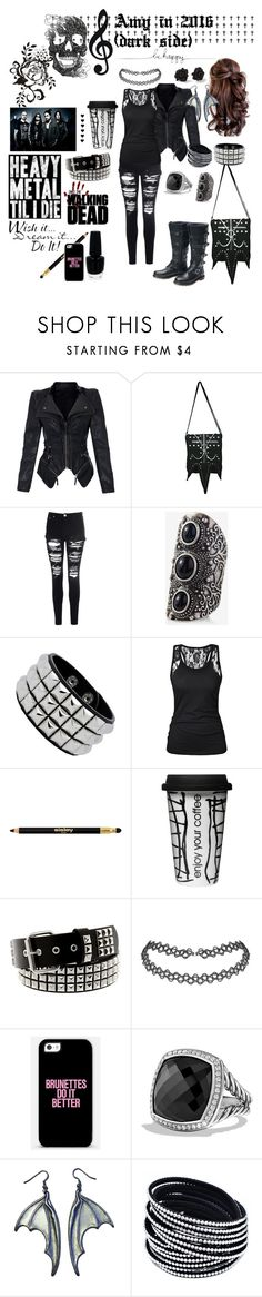 """""""Amy in 2016 (dark side)"""" by amyblack777 ❤ liked on Polyvore featuring Glamorous, Express, Sisley, Dot & Bo, Hot Topic, WALL, OPI, Marc by Marc Jacobs and David Yurman"""