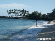 Ma'haiula Beach Big Island.  What a gorgeous day for wading!