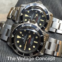 """""""Rolex Double Red Sea Dweller 1665 MK IV & III  WhatsApp: +852-96991000 Email: info@thevintageconcept.com"""""""
