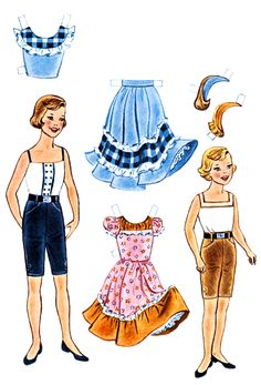 For Kids: Linda Goes West Ranch Party Paper Dolls