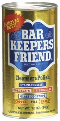 Bar Keepers Friend -- best every way to clean glass stove tops and any other project.  Wish I'd found it years ago.