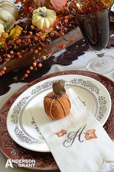 Setting a Beautiful Table for Fall