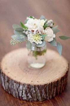 Wood, flowers & glass