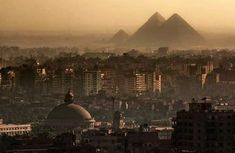 The Great Pyramids - Cairo, Egypt 22 Majestic Old Buildings Completely Dominating Modern Skylines Egypt Map, Pyramids Of Giza, Cairo Egypt, Shanghai, The Places Youll Go, Places To See, Cairo University, Cairo City, Peking