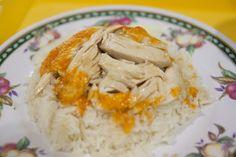 hainan chicken rice - my favorite singaporean hawker food