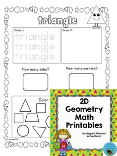 $ Set of printables to help students develop knowledge and skills in 2D geometry.