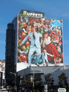 The Muppets movie billboards...