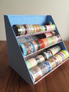 画像 Diy Washi Tape Crafts, Washi Tape Storage, Washi Tape Cards, Ribbon Storage, Card Storage, Washi Tapes, Diy Storage Projects, Craft Room Storage, Craft Organization