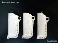 Handmade leather lighter case