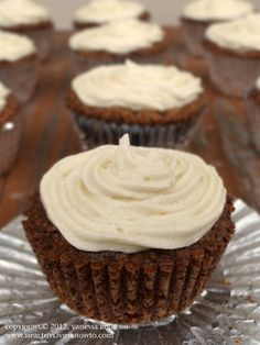 Carrot Cake Cupcakes - gluten free, sugar free, dairy free, low carb! [Healthy Living How To]