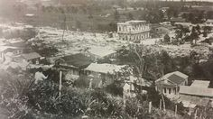 Vista del pueblo de Camuy luego del fuego que destruyó cerca de 40 casas. Camuy, Puerto Rico. 1919.