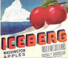Iceberg Apple Crate Label, via Flickr.