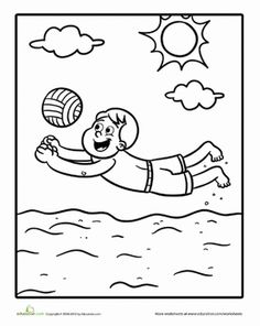 sport volleyball coloring pages for girls new drawings sports coloring pages summer. Black Bedroom Furniture Sets. Home Design Ideas