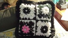 Crocheted pillow for my niece