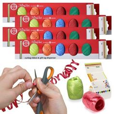 500ft American Greetings Curling Ribbon + 200 Gift Tags Assortment Christmas Set (Pack of 4)