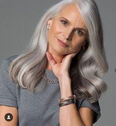 Salt and pepper gray hair. Granny hair don… – White Hair Grey Ombre Hair, Long Gray Hair, Grey Wig, Silver Grey Hair, Grey Blonde, Pelo Color Plata, Grey Hair Treatment, Premature Grey Hair, Silver Haired Beauties