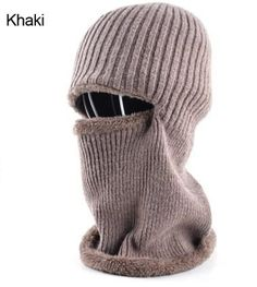 Men's winter knitted face mask Balaclava hat for men - Black/Gray/Khaki/Blue  Winter Cold Weather Faces  Products Website Store Shop Buy Sell Sale Online Shopping mens Accessories fall autumn