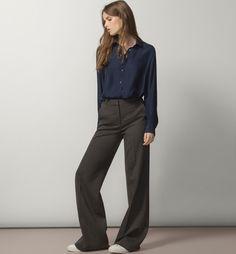 BLUSA MARINO 100% SEDA MORERA - Lisas - Camisas & Blusas - WOMEN - España - Massimo Dutti