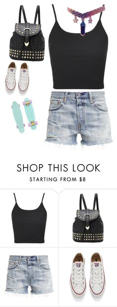 """"" by coolpj on Polyvore featuring Topshop, Levi's, Converse, men's fashion and menswear"