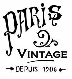 Pochoir Adhésif 20 x 20 cm PUB VINTAGE PARIS