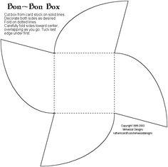 bonbon box template http://www.ruthannzaroff.com/mirkwooddesigns/images/bonbon.gif