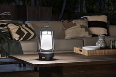 Our Must Have Outdoor Accessory - The Kichler Lyndon Portable Bluetooth LED Lantern — Nicole Janes Design Lantern Post, Led Lantern, Wall Lantern, Lanterns, Cool Lighting, Outdoor Lighting, Landscape Lighting, Bluetooth, Deck Furniture