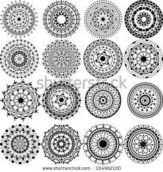 lace tattoo | Set Of Beautiful Mandalas And Lace Circles Stock Vector 104962100 ...