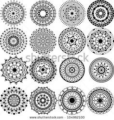 lace tattoo | Set Of Beautiful Mandalas And Lace Circles Stock Vector 104962100 ...