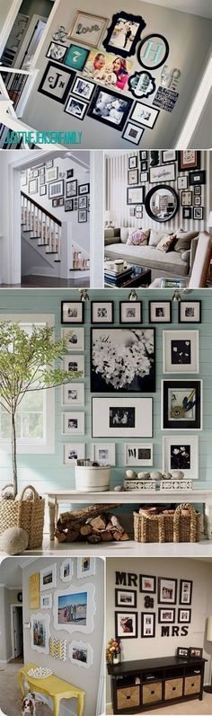Insane I love the idea of a family picture wall.. Not sure where this would work in our house though.. Maybe over the stairs or down the hallway..  The post  I love the idea of a family picture wall.. Not sure where this would work in our…  appeared first on  Home Decor .