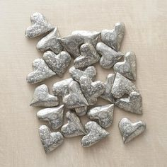HANDFUL OF HEARTS from Sundance catalog. These look like they would be cute in a bowl. -Jennifer
