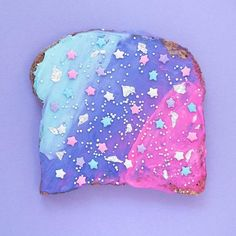 Friday is for Unicorn Toast. Inspired by @vibrantandpure