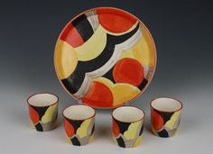 susiecooper - Google Search Susie Cooper, Art Nouveau, Art Deco, Clarice Cliff, Coffee Set, Sell Items, Geometric Art, Ceramic Pottery, Quilts