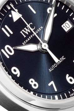 IWC SCHAFFHAUSEN - Pilot's Automatic 36 Alligator And Stainless Steel Watch - Silver - one size