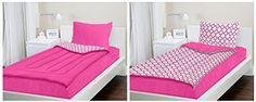Zipit Bedding Set, Pink Clovers - Twin - Zip-Up Your Sheets and Comforter Like a Sleeping Bag