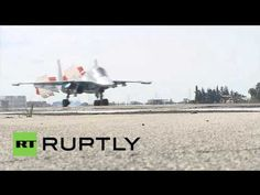 Syria: Russian fighter jets target militant infrastructure in latest airstrikes ► 29.10.2015. https://www.youtube.com/watch?v=v6WbAIUkcZg A range of Russian military aircraft were seen taking off and landing at the Hmeymim Air Base in Latakia, Thursday, as the Russian Air Force continues its anti-terror operation against the so-called Islamic State (IS, formerly ISIS/ISIL) and other...
