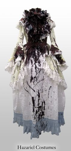 Theater bloody costume for Marie-Antoinette